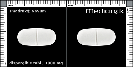 dispergible tabletter 1000 mg (delekærv for nemmere indtagelse)