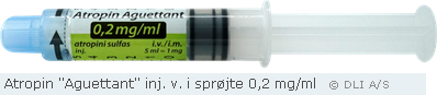Atropin Stragen 0,2 mg/ml i 5 ml sprøjte = 1 mg